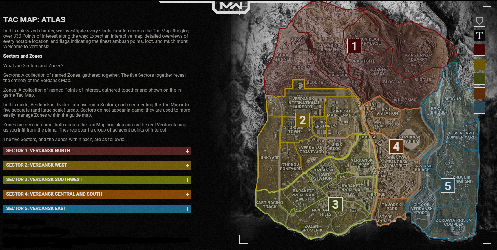 Warzone Tactical Map And Overview Zbor Gaming